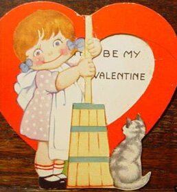 Butter Churn Valentine Card