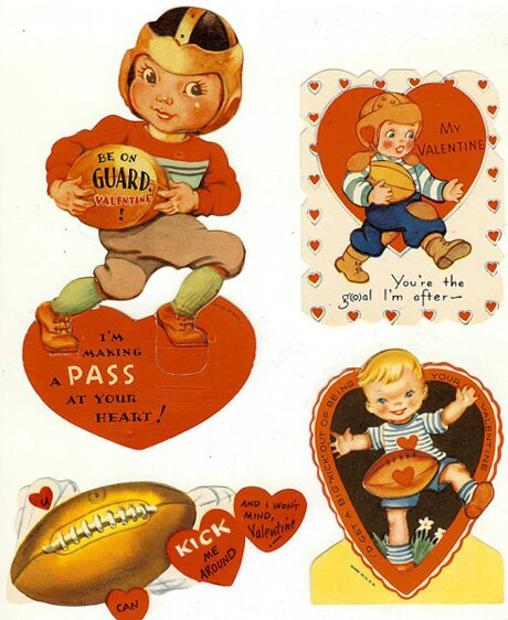 Football Themed Valentine's Day Cards