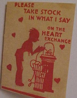 Stock Market Valentine's Day Card