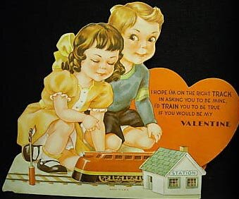 Lionel Train Valentine's Day Card